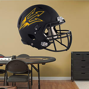 Arizona State Sun Devils Black Helmet Fathead Wall Decal